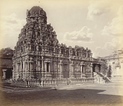 Tanjore Pagoda. The Subramanya Temple.